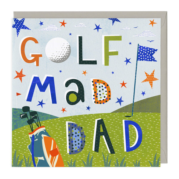Golf Mad Dad Father's Day Card