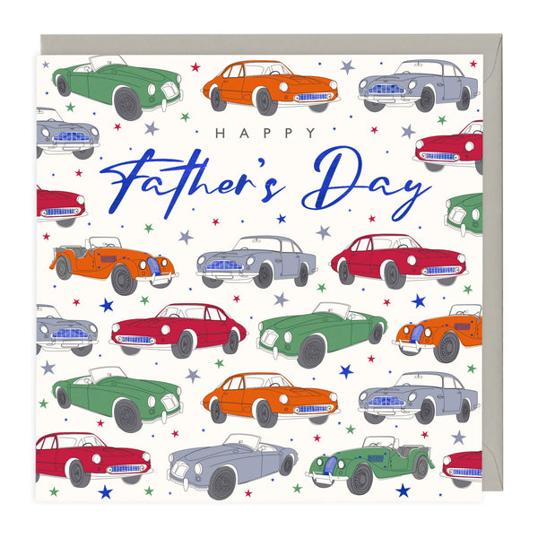 Bright Classic Cars Father's Day Card
