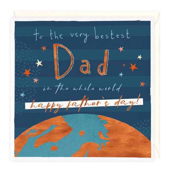 Bestest Dad In The World Father's Day Card