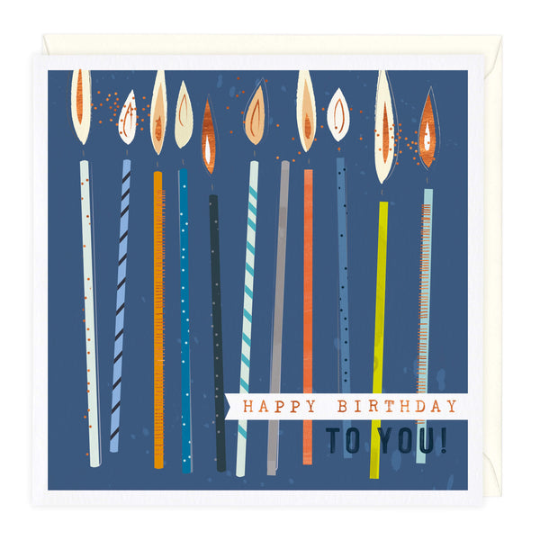 Tall Candles Birthday Card