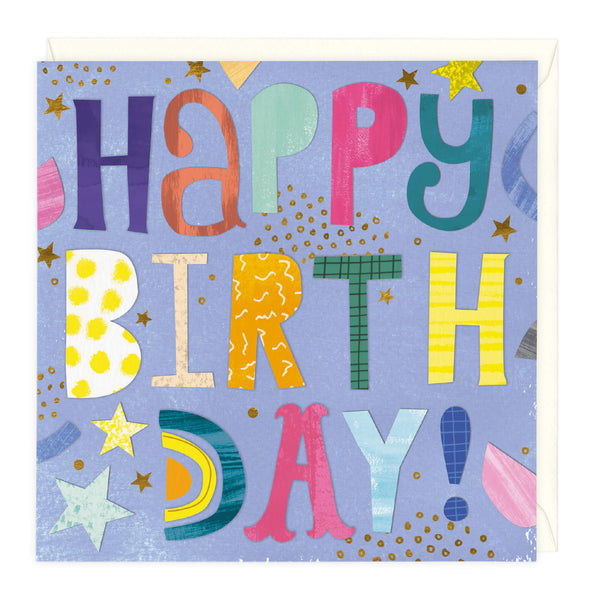 Bright Typography Birthday Card