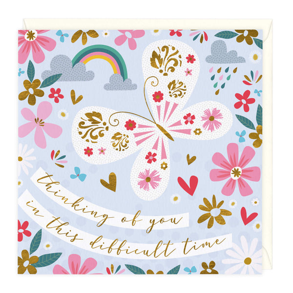 Butterfly and Clouds Sympathy Card