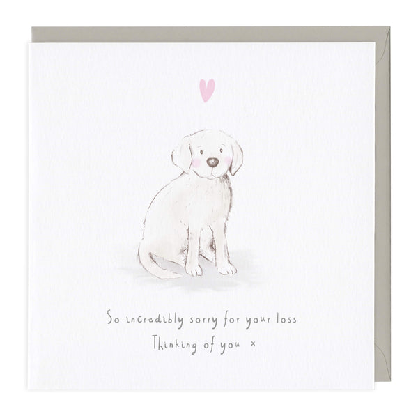 Sorry For Your Loss Dog Sympathy Card