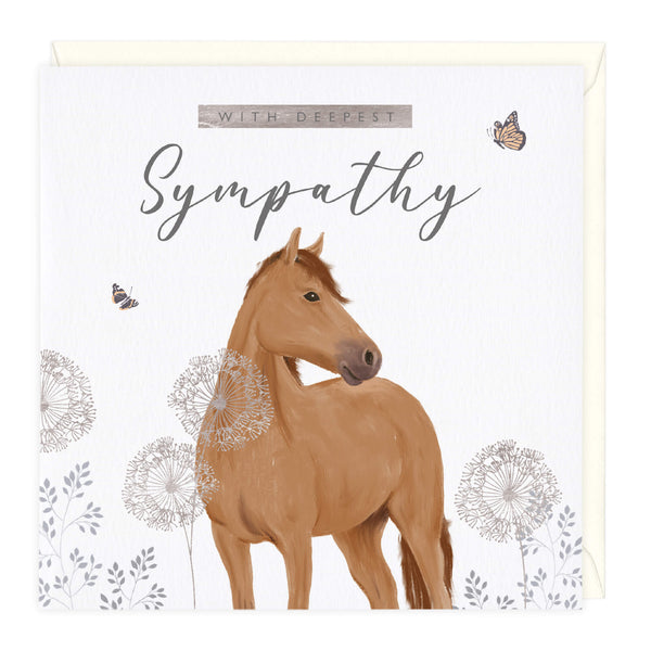 With Deepest Sympathy Equine Card