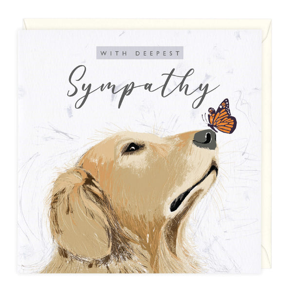 With Deepest Sympathy Canine Card