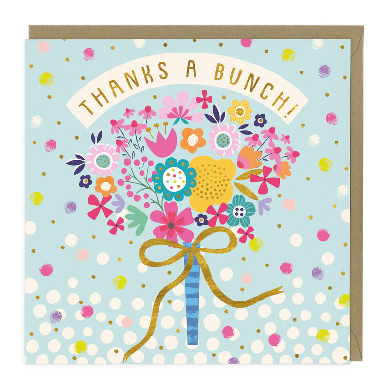 Beautiful Bouquet Thank You Card