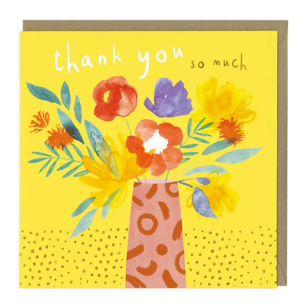 Vibrant Flowers Thank You Card