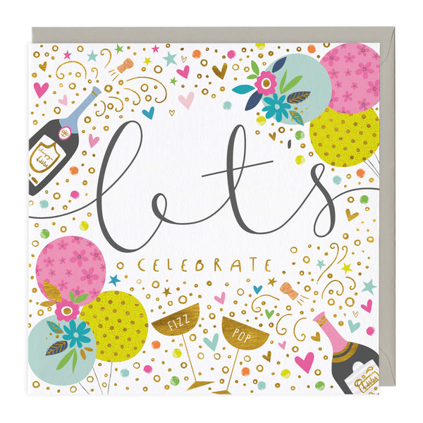Popping Champagne Celebration Card