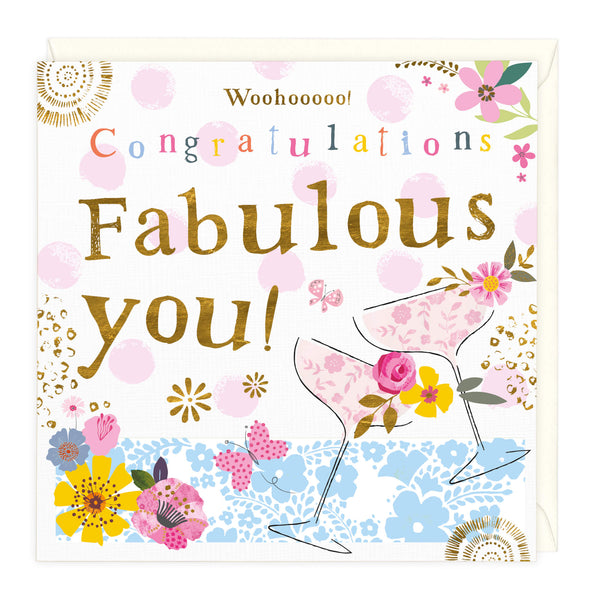 Woohoo Fabulous You Congratulations Card