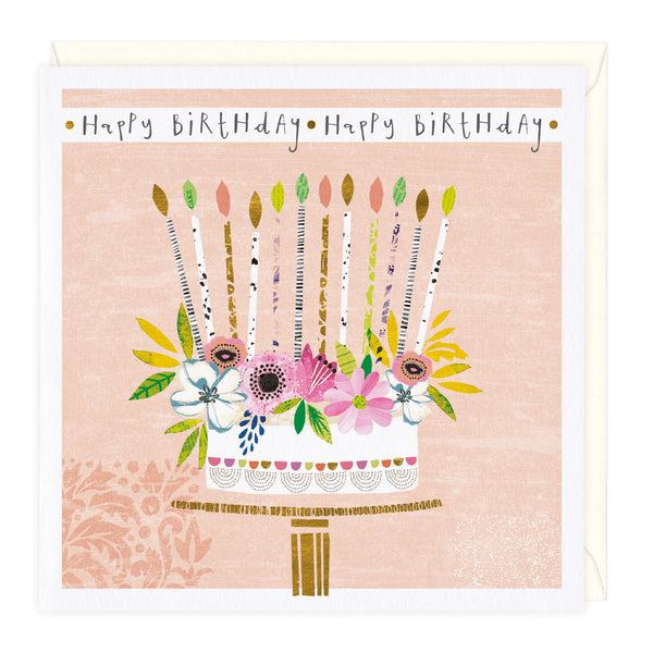 Stunning Cake Birthday Card