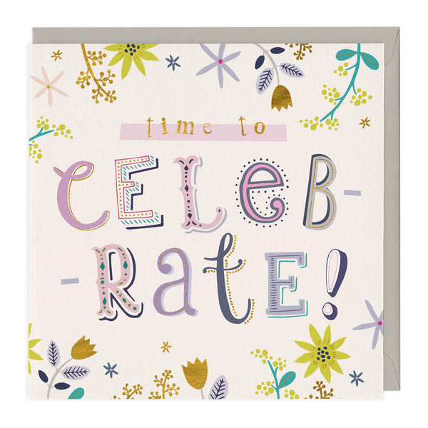 Time To Celebrate Congratulations Card