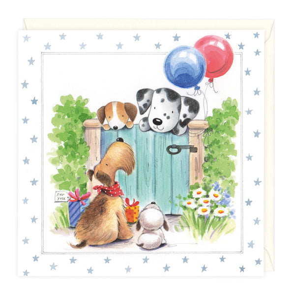 Friends At The Gate Birthday Card