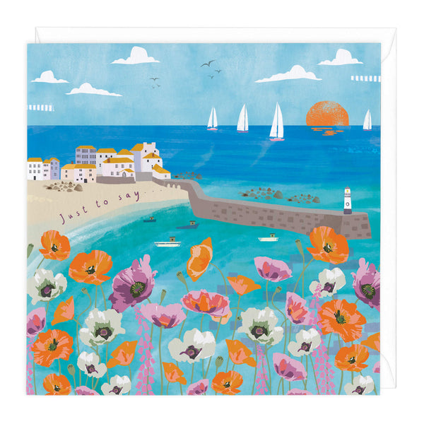 Coastal Poppies Just To Say Card