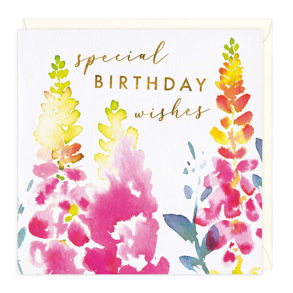 Floral Blooms Special Birthday Wishes Card