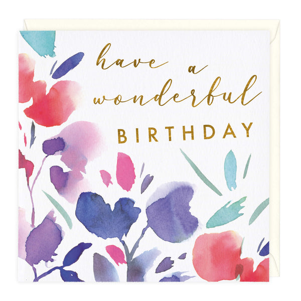 Floral Blooms Have A Wonderful Birthday Card