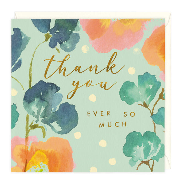 Beautiful Florals Thank You Card