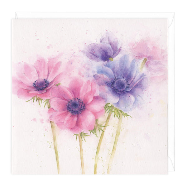 Anemone Floral Art Card