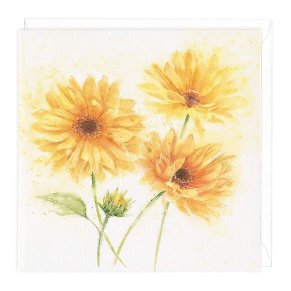 Helianthus Floral Art Card