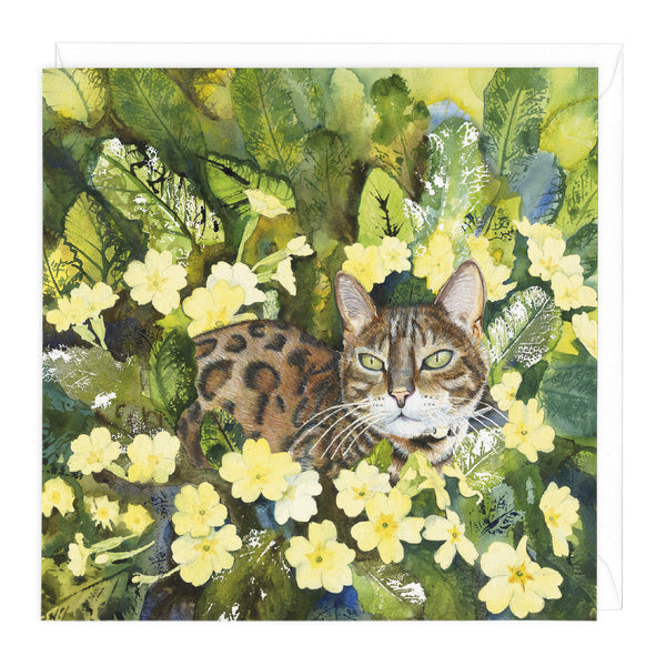 Tiger Cat Art Card