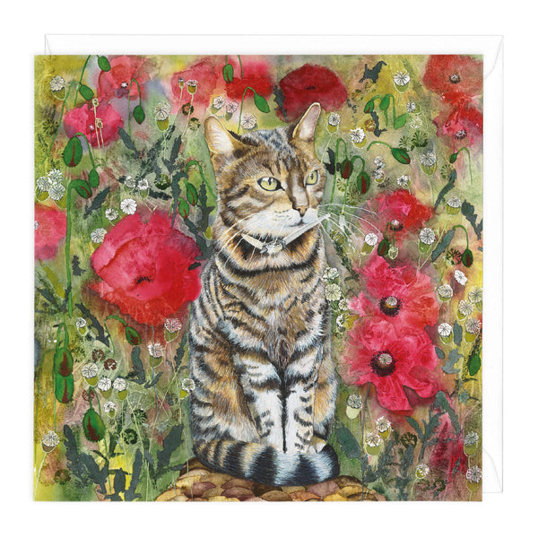 Summer Cat Art Card