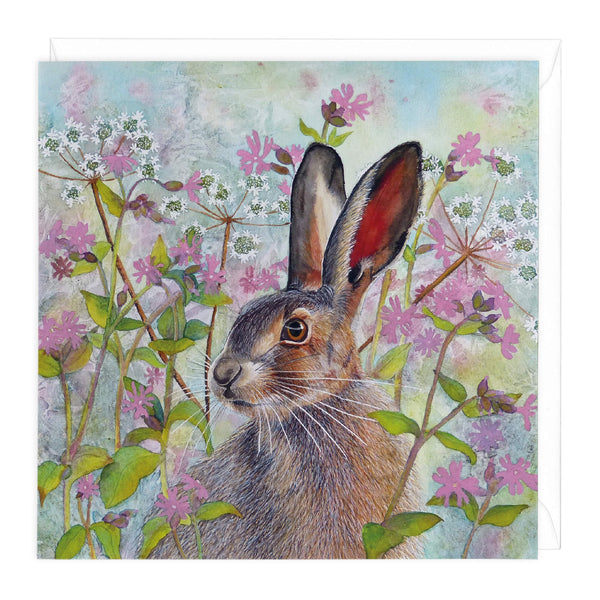 Woodland Hare Art Card