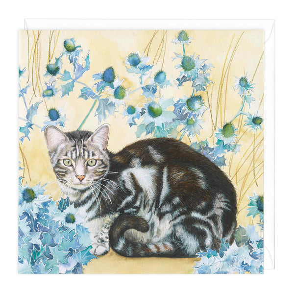 Thistle Kitten Art Card