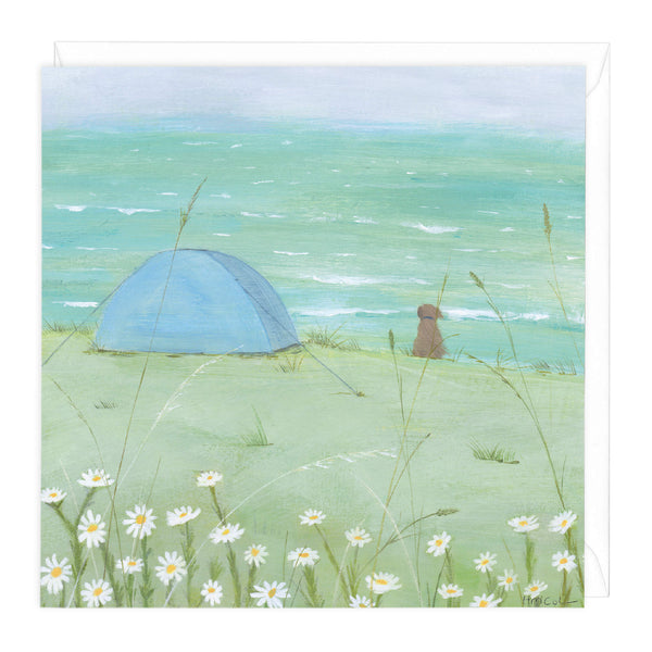 Cliff Camping Art Card