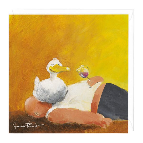 A Sitting Duck Art Card