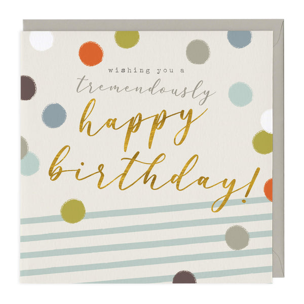Spots and Stripes Birthday Card