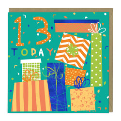 13 Today Presents Birthday Age Card