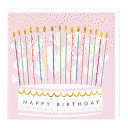 Sugar Snow Cake Birthday Card