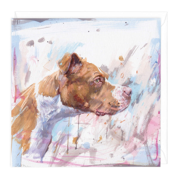 American Bulldog Art Card