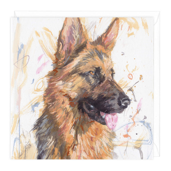 German Shepherd 2 Art Card