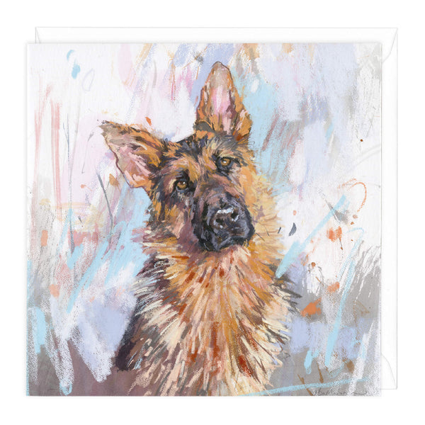 German Shepherd 3 Art Card