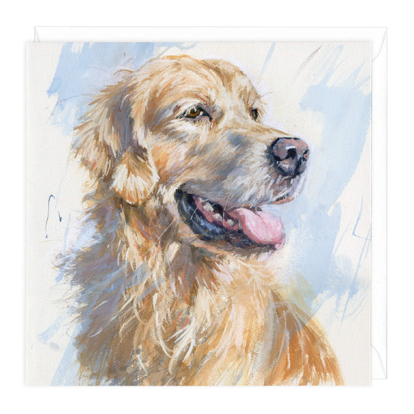 Golden Retriever Art Card