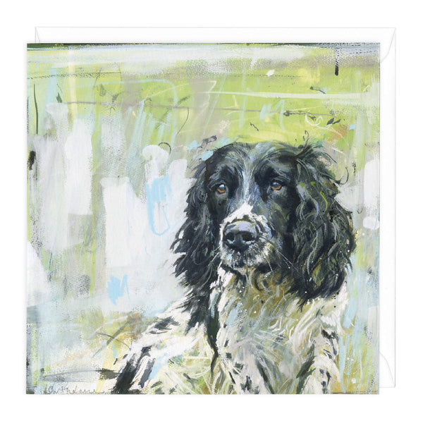 Springer on Green Art Card