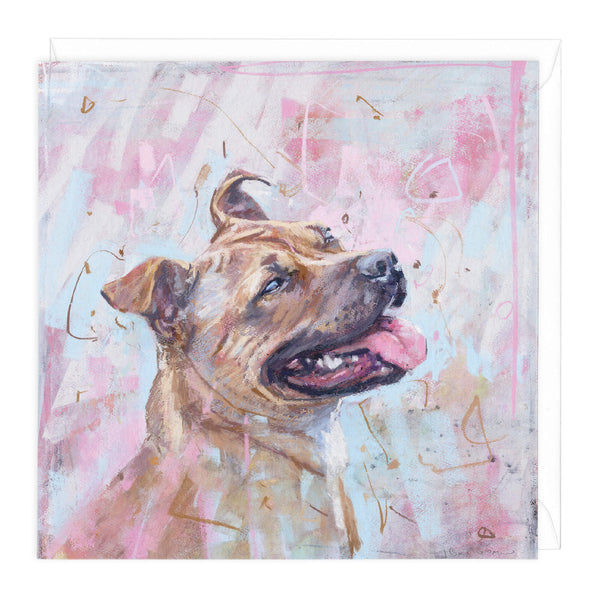 Staffy Art Card