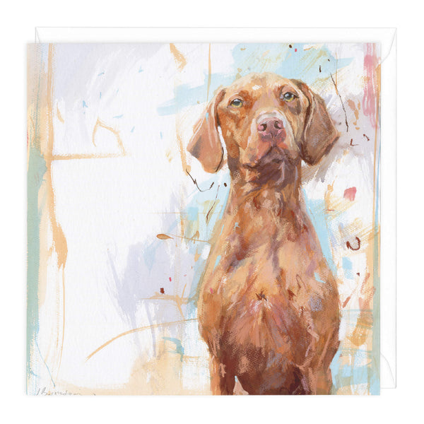 Vizsla Art Card