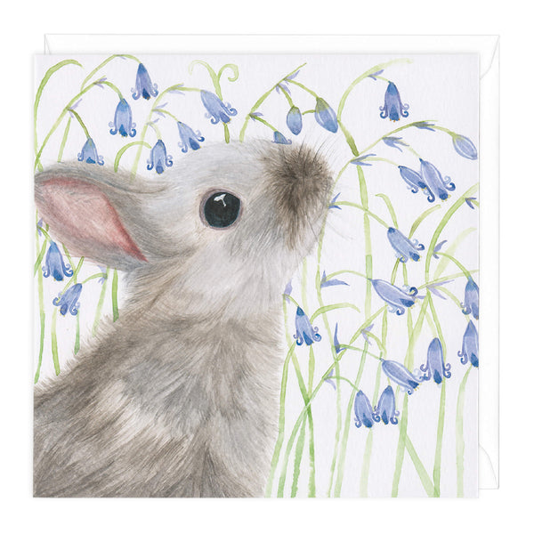 Bluebell Bunny Art Card