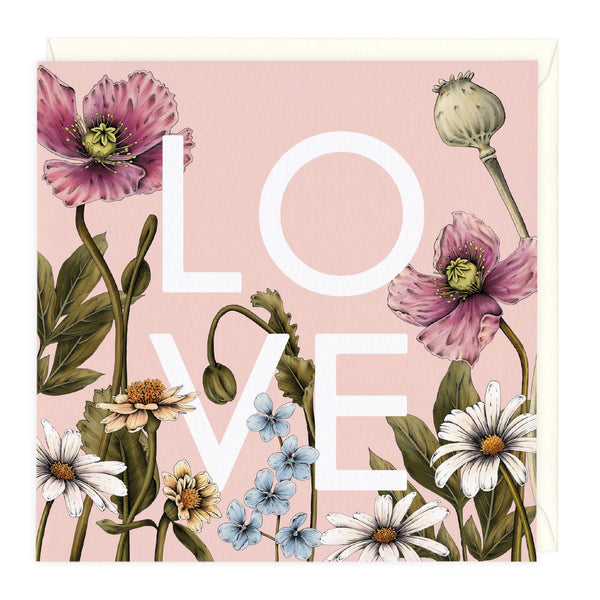 Floral Love Just To Say Card