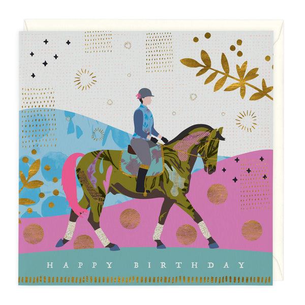 Cantering Horse Birthday Card