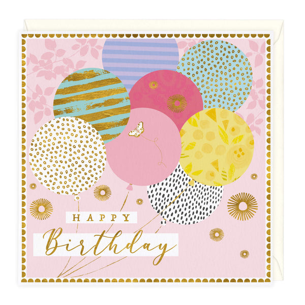 Party Balloons Birthday Card