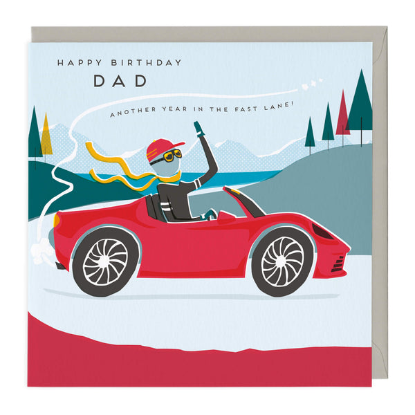 Another Year In The Fast Lane Dad Birthday Card