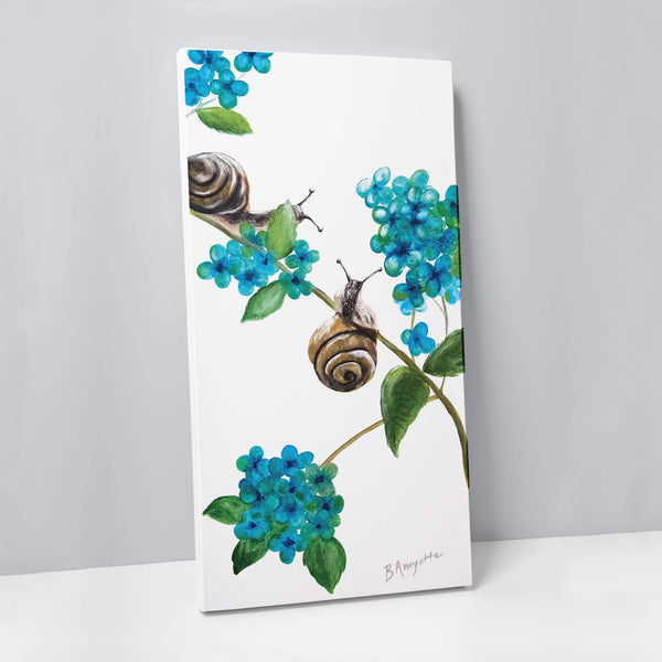 Blue Snails Canvas
