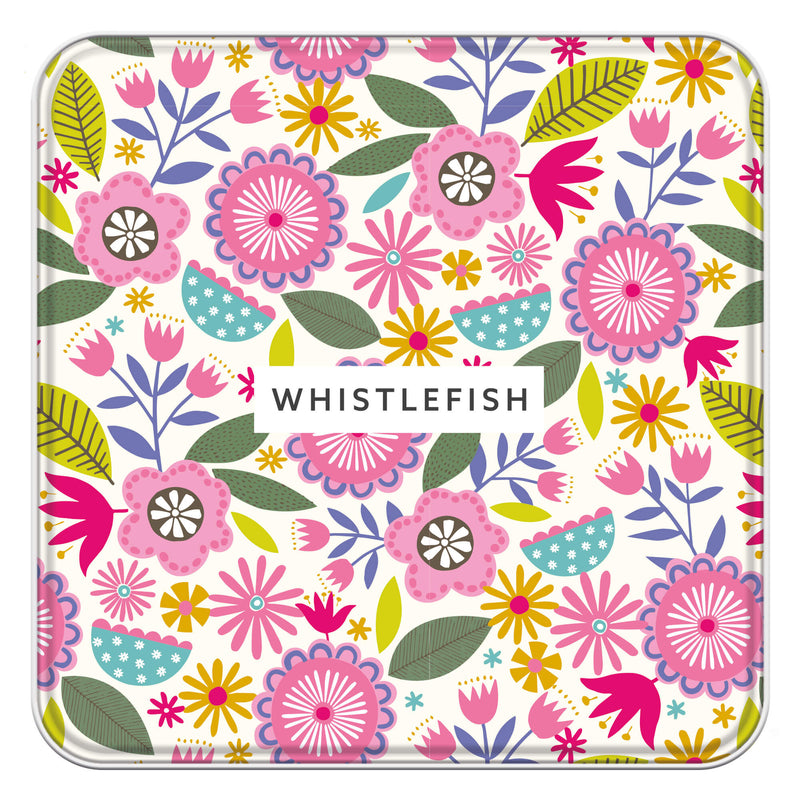 Bright Blooms Notelet Tin
