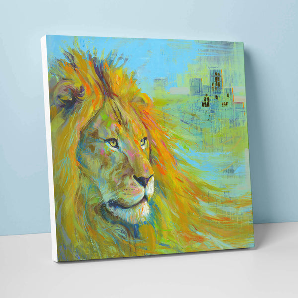 Urban Lion Giant Canvas