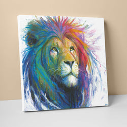 Rainbow Lion Canvas