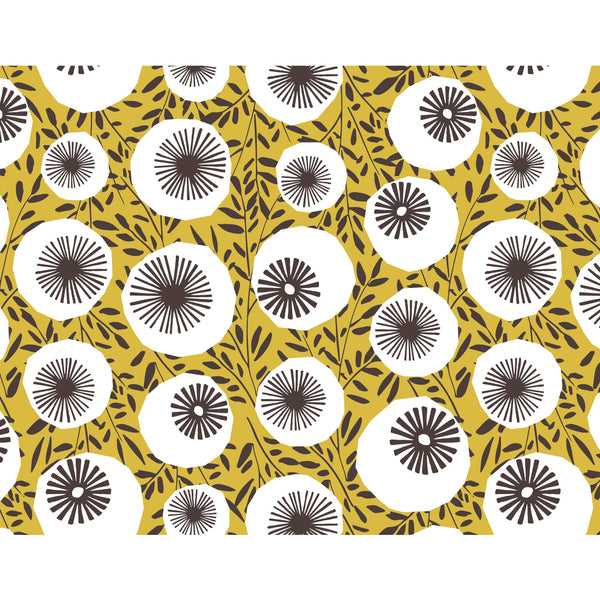 Retro Poppy Heads Wrapping Paper