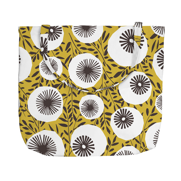 Retro Poppy Tote Bag