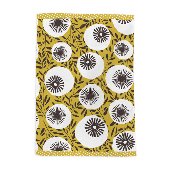 Retro Poppy Head 2 Tea Towel Set